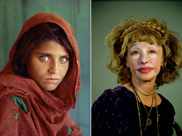 left: Afghan Girl, by Steve McCurry (1984); right: Untitled #359, by Cindy Sherman (2000)