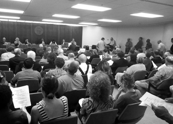 A typical dreaded public hearing (photo by Colin McEvoy, Express-Times) Image of public hearing