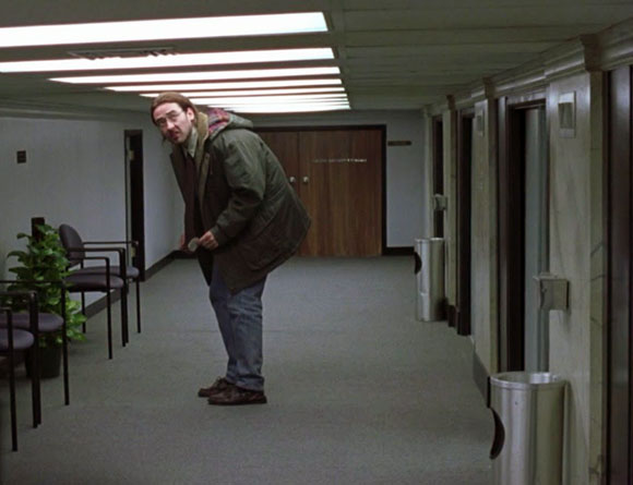 John Cusack in Being John Malkovich, 1999